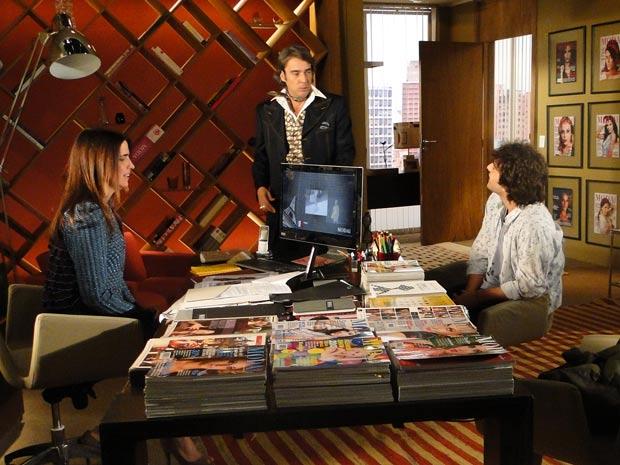 Jacques aparece no escritório de Suzana e destrata Luti