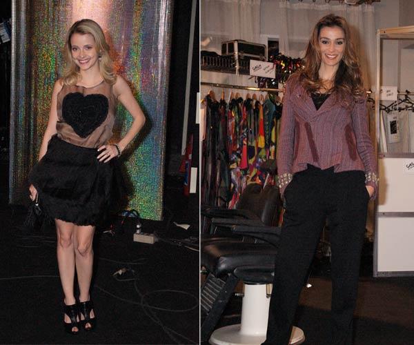 Camila incrementou o look do vestido com uma bela ankle, e Dorinha apostou em modelito básico