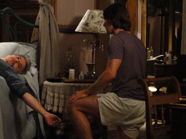 Solano encontra Fernando morto na mesma posição da visão de Terê Tenório