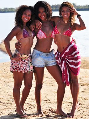 Cinara, Nanda e Raquel gostam de esportes
