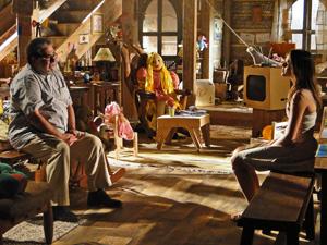Padre Emílio conversa com Terezinha