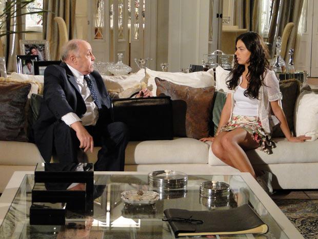 Ele diz que devolverás 11% das ações da Editora para Gustavo se Marcela passar um ano casada com Renato
