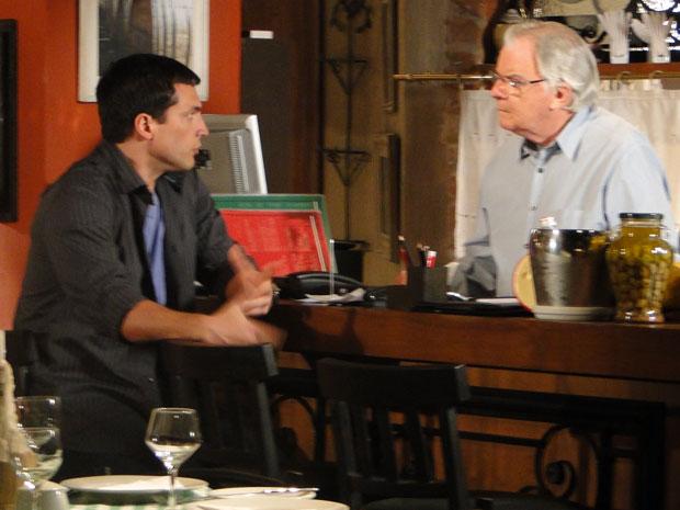Talarico diz a Diogo que ele precisa focar em prejudicar Clara