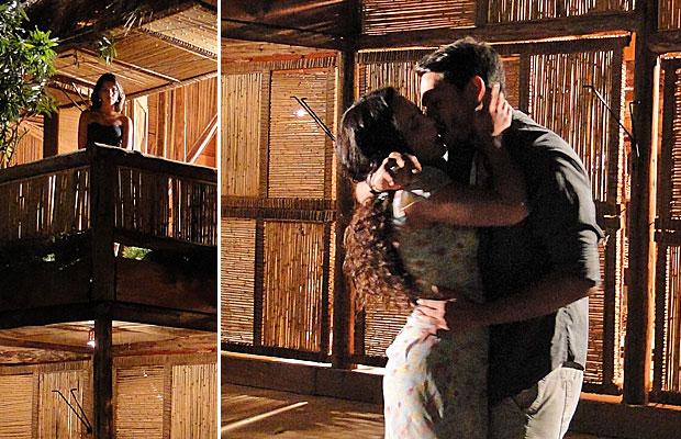 Nancy entra em crise ao ver Janaína e Fred aos beijos