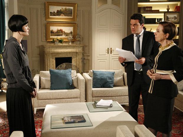 Mauro e Bete ficam chocados com a comprovação que Fred roubou dinheiro de desviado da empresa