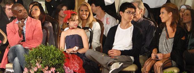 Adriano, Mabi, Lipe e Thaísa na plateia