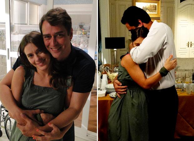 Carolina ganha carinho dos grandes amigos Rodrigo e Marcelo
