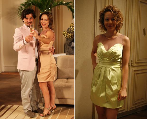 Jéssica e Agostina escolheram o mesmo vestido para passar o Natal