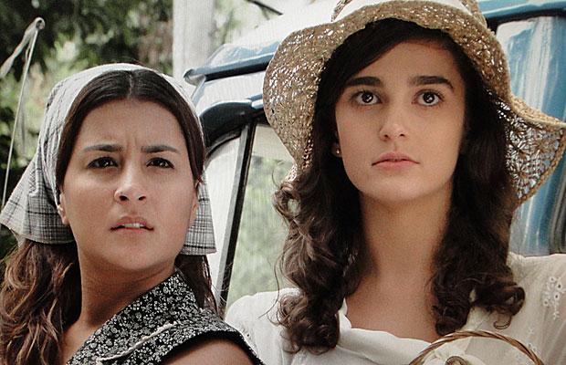 Mariquita e Antoninha jovens avistam uma índia Karuê
