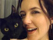Larissa Maciel mostra as gatas Mia e Manu (passione/tvglobo)