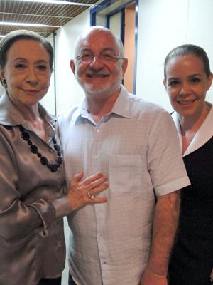 Silvio com Fernanda e Debora
