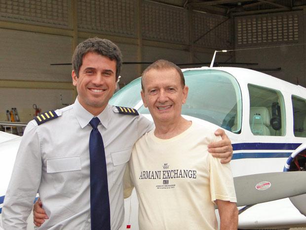 Eriberto Leão e o comandante Caetano