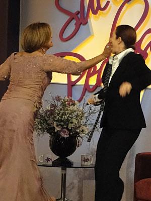Nicole briga com apresentadora