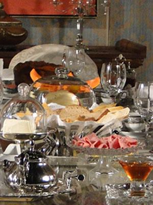 A mesa do café da manhã é caprichada