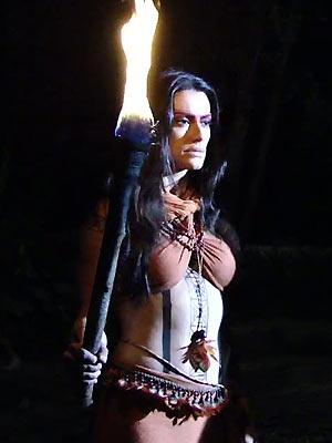 A índia invoca os espíritos anciãos