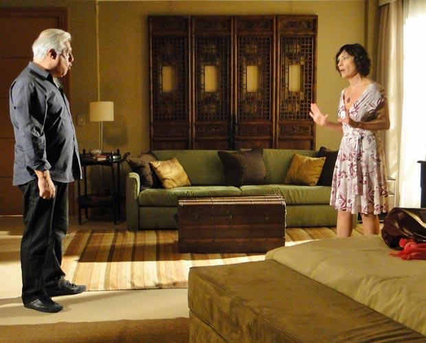Raul e Wanda discutem