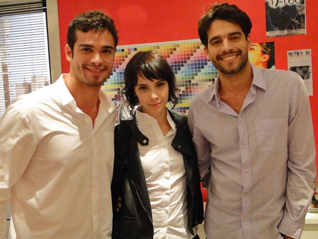 Sidney Sampaio grava com Débora Falabella e Guilherme Winter