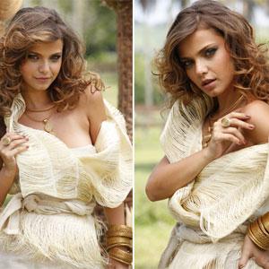 Milena reviveu seus dias de modelo