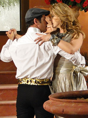 Valentim e Jaqueline dançam