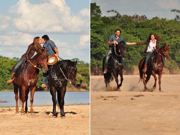 Os dois têm em comum a paixão por cavalos