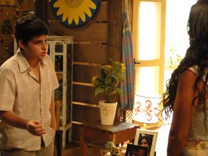 Bruno comunica regras à mãe