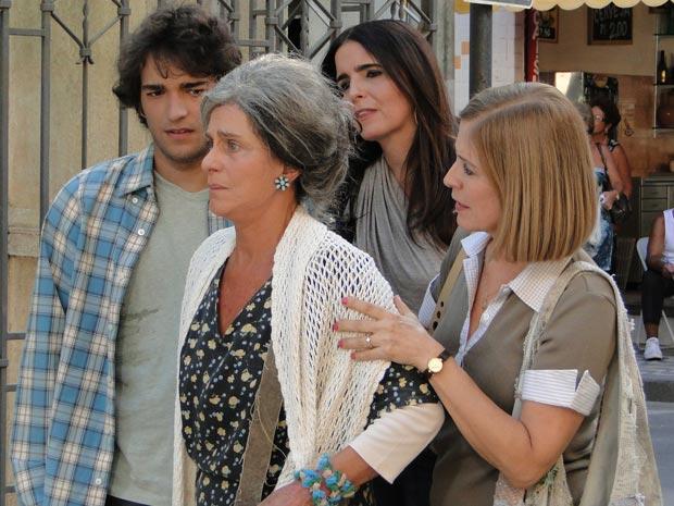 Suzana e Luti levam Cecília para a casa de Ari