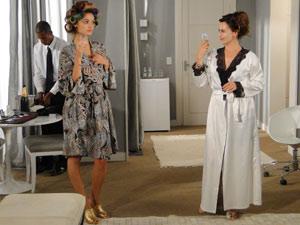 Stéfany e Daguilene brindam sucesso do programa de televisão