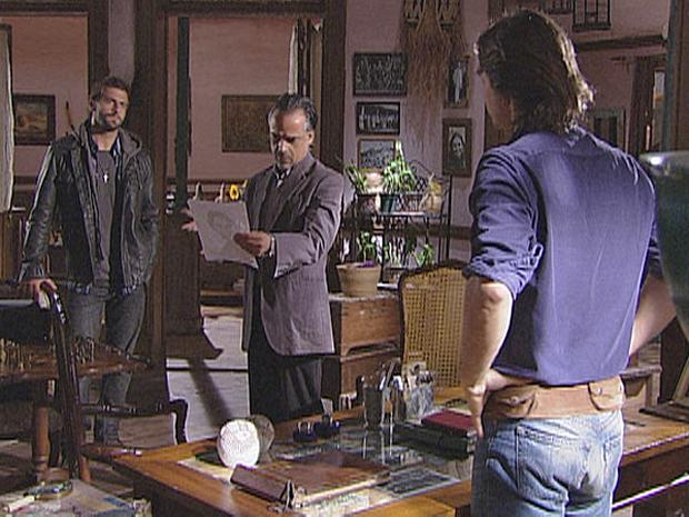 Solano conta a Geraldo que Lutti não é seu verdadeiro pai
