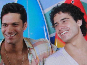Thales e Julinho estão muito felizes em Saquarema