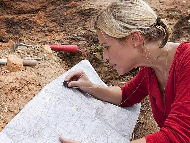 Júlia escreve sobre palentologia em seu blog