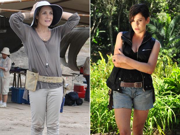 Júlia usa roupas mais sóbrias, enquanto Virgínia abusa dos decotes e rendas