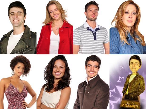 Os personagens ganhadores do Prêmio Redondamente