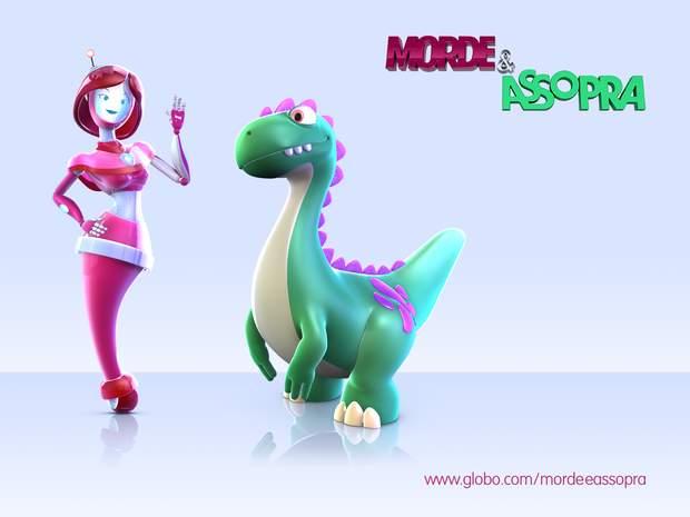 Dinossauro e robô