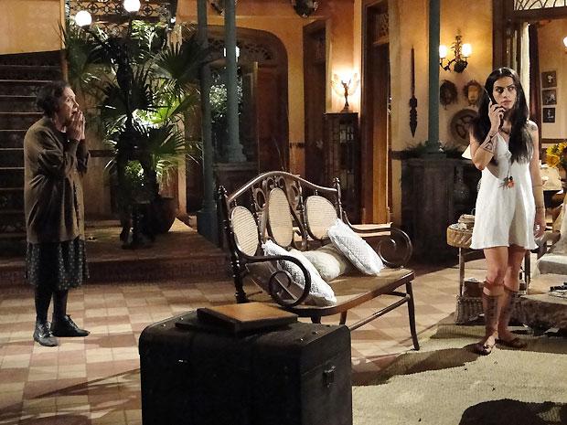Mariquita dá forças para que Estela brigue por Solano