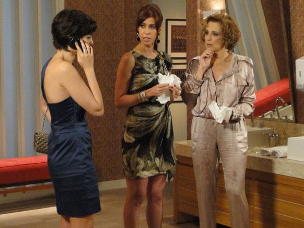 Suja de vinho, Clarice de cide ir embora e não desconfia que Paula armou para livrar Cortez