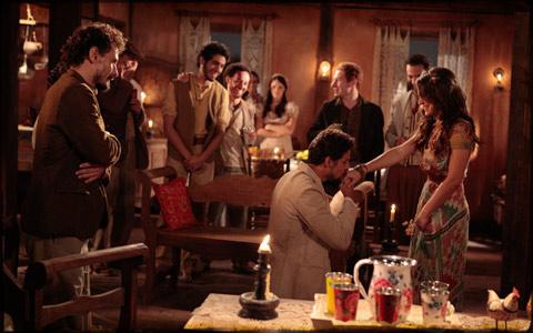 Jesuíno pede a mão de Açucena, e ela aceita (cordelencantado/tvglobo)