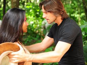 O casal Estela e Solano emocionaram com a história de amor