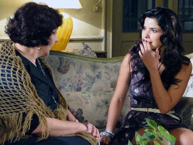 Salomé bola mais um plano para a filha desencalhar e manda ela se aliar a Tiago