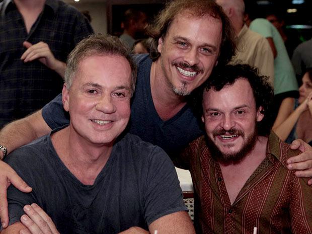 Luiz Fernando Guimarães, Matheus Nachtergaele e Guilherme Fontes