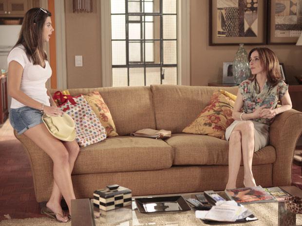 CFecília fica assustada com atitude de Eunice, que proíbe namoro da filha com Rafa