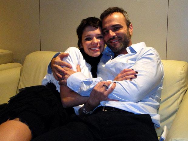 Bruna e Marcelo depois da cena em que brigam feio