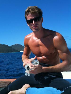Jonatas Faro em um de seus mergulhos (Fotos: Arquivo Pessoal)
