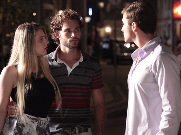 Caco surge e defende Inês após Guilherme ameaçá-la