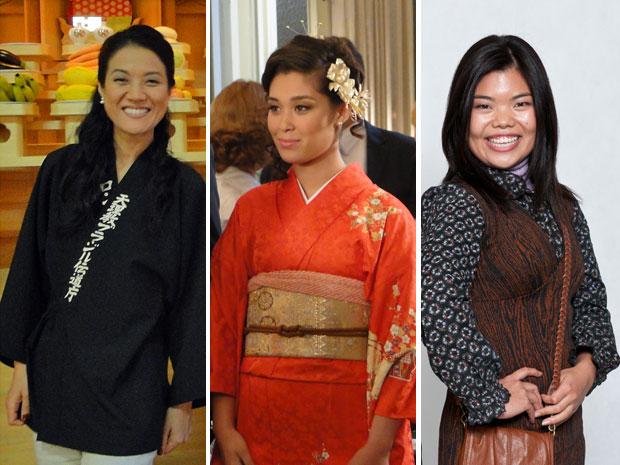 Tieko, Keiko e Hoshi representam a beleza oriental em Morde & Assopra