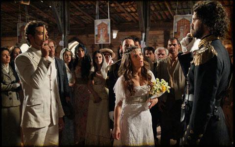 Rei impede casamento de Açucena e chama Jesuíno para um duelo (cordelencantado/tvglobo)