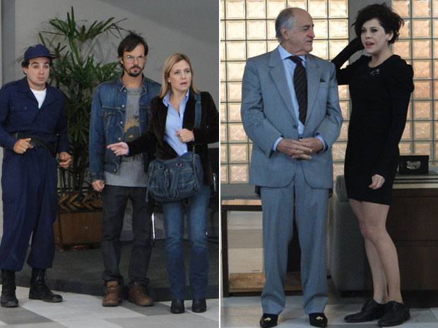 Júlia flagra encontro de Virgínia com o prefeito (Foto: Morde & Assopra / TV Globo)