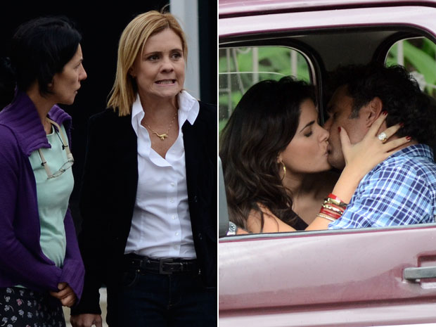 Júlia fica furiosa ao presenciar beijo entre Abner e Celeste (Foto: Morde & Assopra/TV Globo)