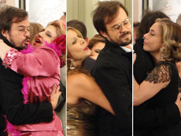 Cristiano vira o queridinho do baile dançante (Foto: Morde & Assopra / TV Globo)