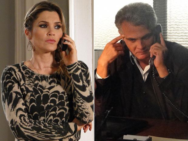 Naomi fica preocupada ao descobrir que Pimentel sabe o seu segredo (Foto: Morde & Assopra/TV Globo)