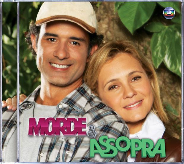 Júlia e Abner estão na capa do CD (Foto: Morde e Assopra/TV Globo)